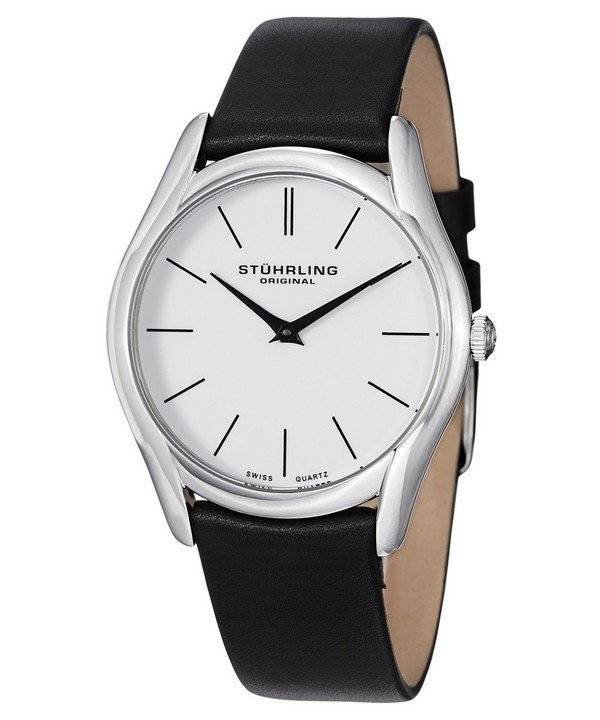 Stuhrling Original Classic Ascot Swiss Quartz White Dial 434.33152 Men's Watch - Click Image to Close