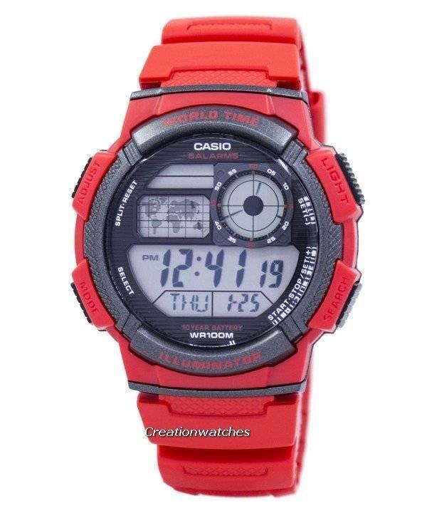 Casio watch casio g shock g shock watch casio baby g casio casio youth world time alarm world map ae 1000w 4av ae1000w 4av mens gumiabroncs Images
