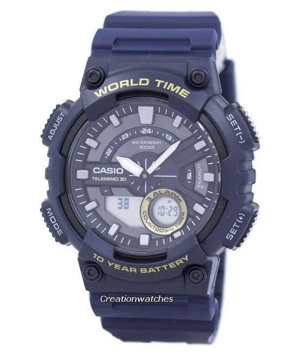 casio telememo 30 world time alarm analog digital aeq 110w 2av rh creationwatches com Casio Telememo 30 Battery Casio Telememo 30 Watch Sales