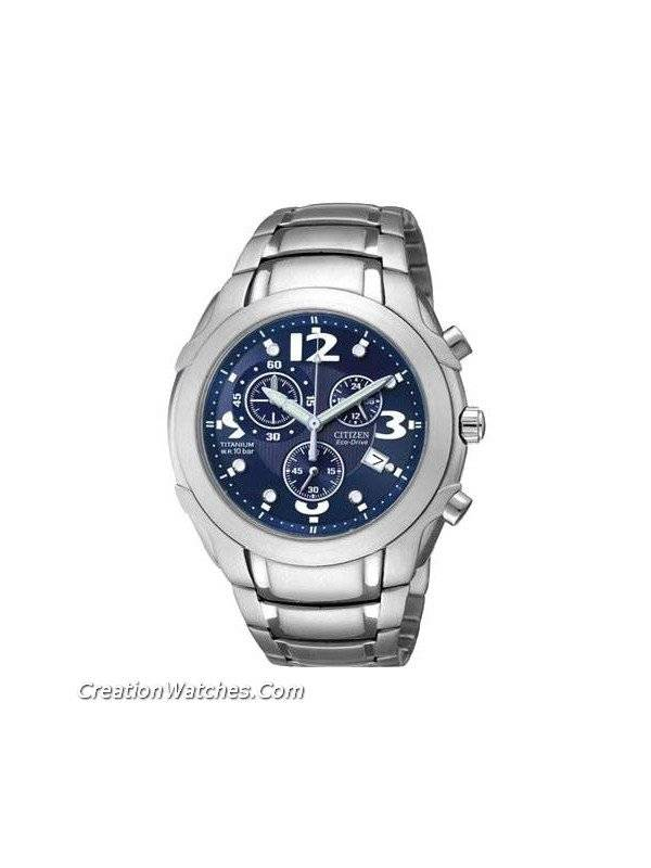 Citizen Gent's Eco Drive Titanium Chronograph Watch AT0351-51L - Click Image to Close
