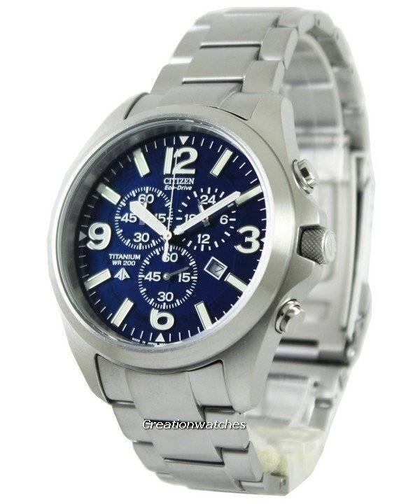 Citizen Promaster Eco-Drive Titanium 200M AT0660-64L Men's Watch - Click Image to Close