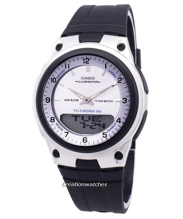 Casio Analog Digital Telememo Illuminator AW-80-7AVDF AW80-7AVDF Men's Watch - Click Image to Close