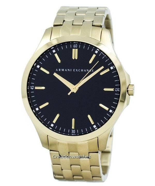 exchange quartz black dial gold tone stainless steel ax2145 men s armani exchange quartz black dial gold tone stainless steel ax2145 men s watch
