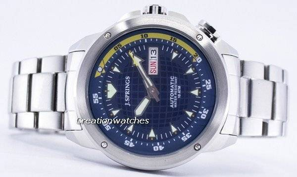J.Springs by Seiko Automatic Navy Dial 100M BEB022 Men's Watch - Click Image to Close