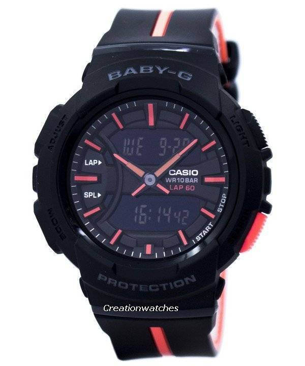 Casio Baby-G Shock Resistant Dual Time Analog Digital BGA-240L-1A Women's Watch - Click Image to Close