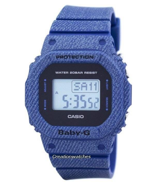 Casio Baby-G Denim'd Alarm Digital 200M BGD-560DE-2 BGD560DE-2 Women's Watch - Click Image to Close