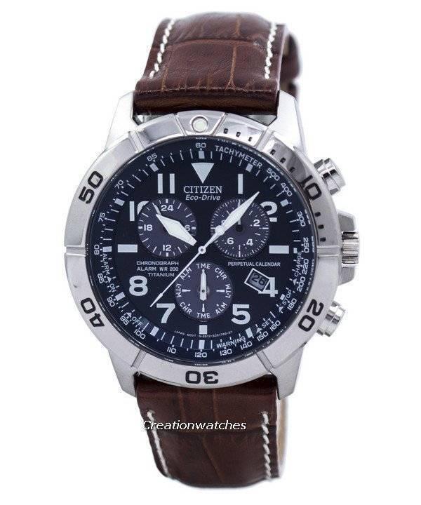 Citizen Perpetual Calendar Chronograph Eco-Drive Mens Watch BL5250-11L/BL5250-02L - Click Image to Close