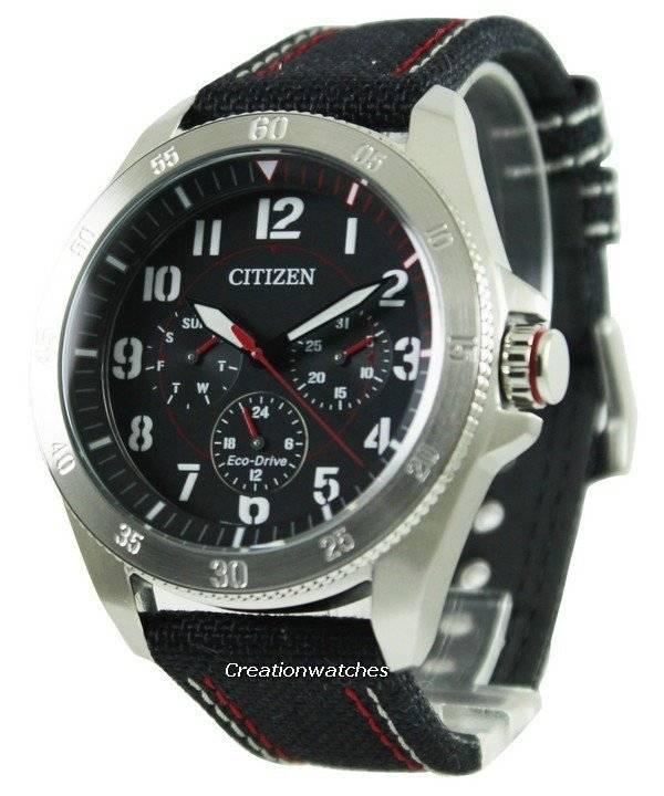 Citizen Eco-Drive Black Dial BU2030-17E Men's Watch - Click Image to Close