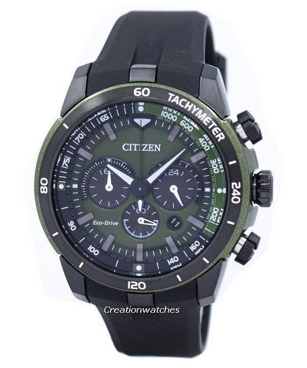 Citizen Eco-Drive Chronograph Tachymeter CA4156-01W Men's Watch - Click Image to Close