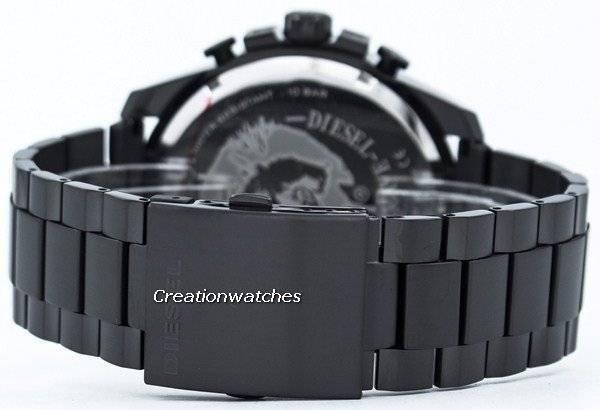 Diesel Mega Chief Quartz Chronograph Black IP DZ4283 Men's Watch - Click Image to Close