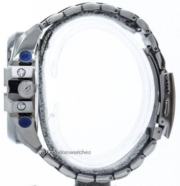 Diesel Mega Chief Chronograph Blue Dial 100M DZ4329 Men's Watch - Click Image to Close