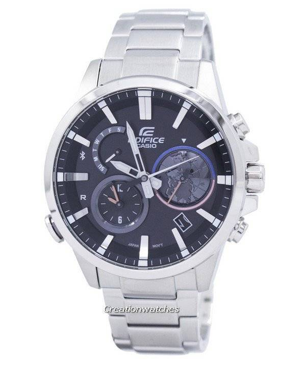 Casio Edifice Smartphone Link Dual Time Analog EQB-600D-1A EQB600D-1A Men's Watch - Click Image to Close