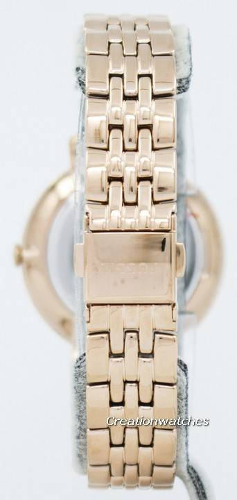 Fossil Jacqueline Quartz Rose Gold Crystals Accents ES3546 Women's Watch - Click Image to Close