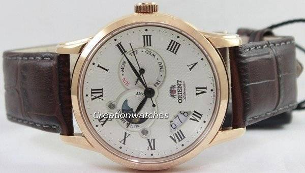 Orient Automatic Sun And Moon Collection FET0T001W0 ET0T001W Men's Watch - Click Image to Close
