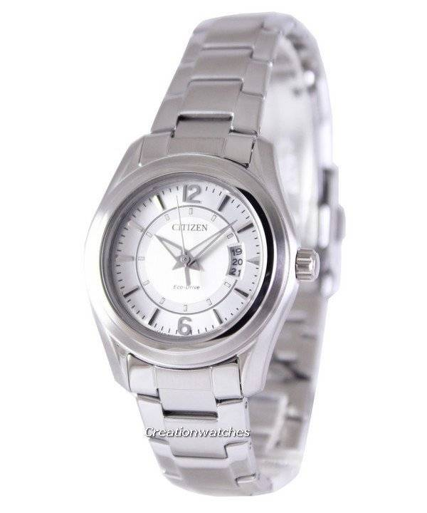 Citizen Eco-Drive Analog FE1010-57B Silver Dial Women's Watch - Click Image to Close