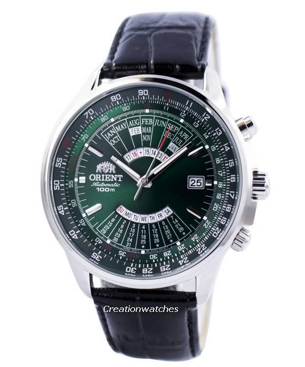 Orient Automatic Multi Year Calendar 100M FEU0700CFH Men's Watch - Click Image to Close