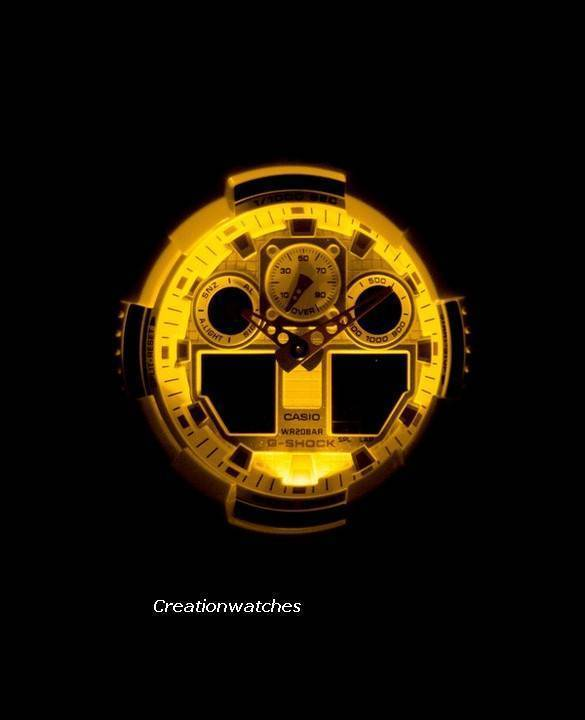 Casio G-Shock Analog Digital GA-100CS-9A GA100CS-9A Men's Watch - Click Image to Close
