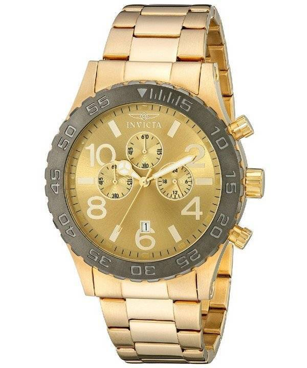 Invicta Specialty Chronograph Gold Tone 15160 Men's Watch - Click Image to Close