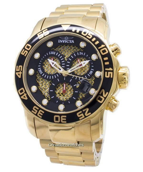 Invicta Pro Diver Chronograph Quartz 300M 19837 Men's Watch - Click Image to Close