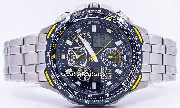 watch skyhawk men s drive watches steel blue t eco a citizen angels stainless