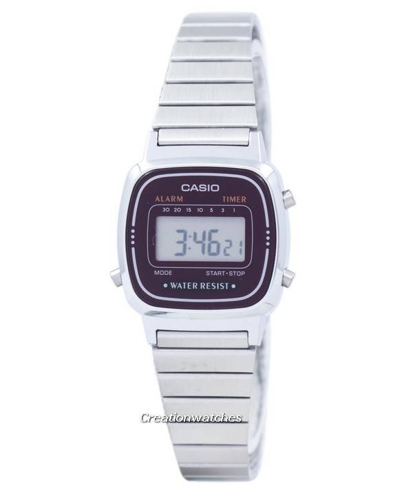 Casio Alarm Digital LA-670WA-4D LA670WA-4D Women's Watch - Click Image to Close