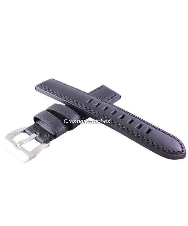 image of black ratio brand leather strap 20mm for srp311. Black Bedroom Furniture Sets. Home Design Ideas
