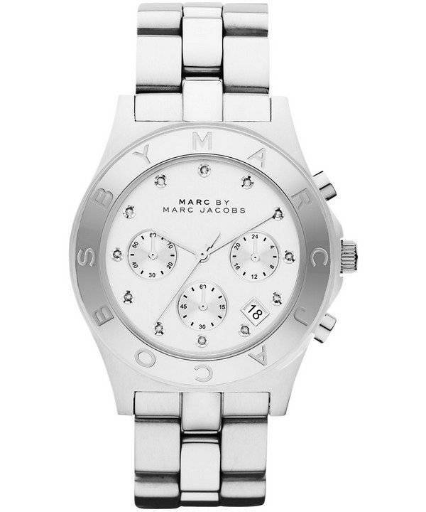 Marc By Marc Jacobs Blade Chronograph White Dial MBM3100 Women's Watch - Click Image to Close