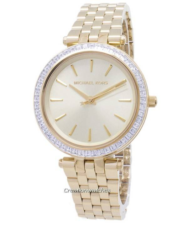 Michael Kors Mini Darci Crystals Gold Tone MK3365 Women's Watch - Click Image to Close
