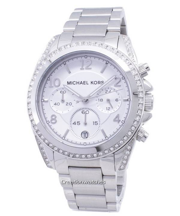 Michael Kors Chronograph Crystal MK5165 Women's Watch - Click Image to Close
