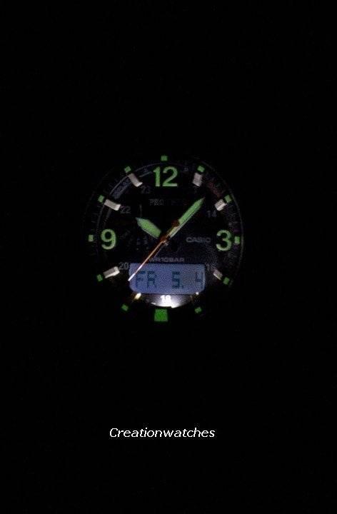 Casio ProTrek Triple Sensor Tough Solar PRG-600-1 PRG600-1 Watch - Click Image to Close