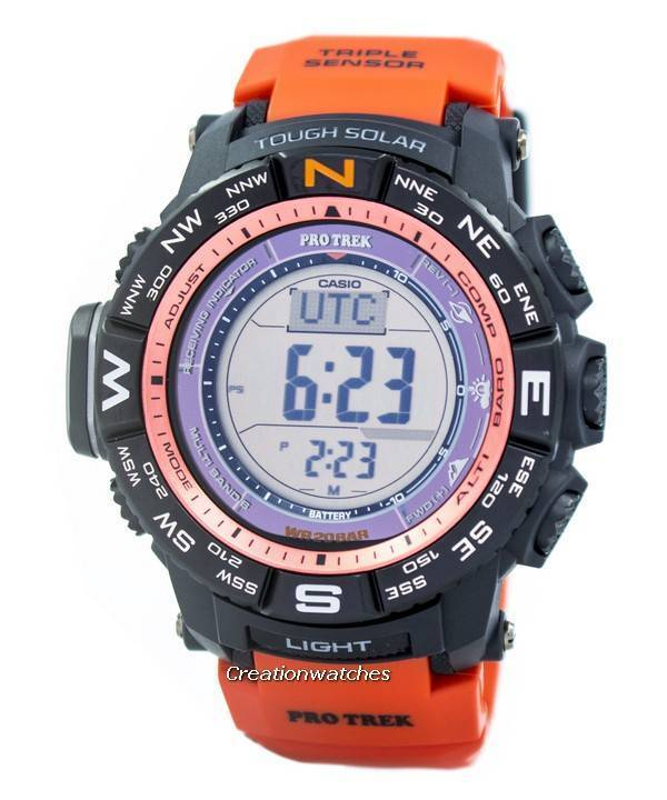 Casio Protrek Digital Atomic Tough Solar Triple Sensor PRW-3500Y-4D Watch - Click Image to Close