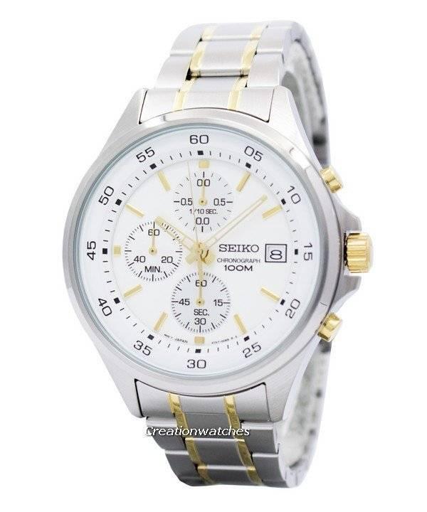 Seiko Chronograph Quartz 100M SKS479 SKS479P1 SKS479P Men's Watch - Click Image to Close