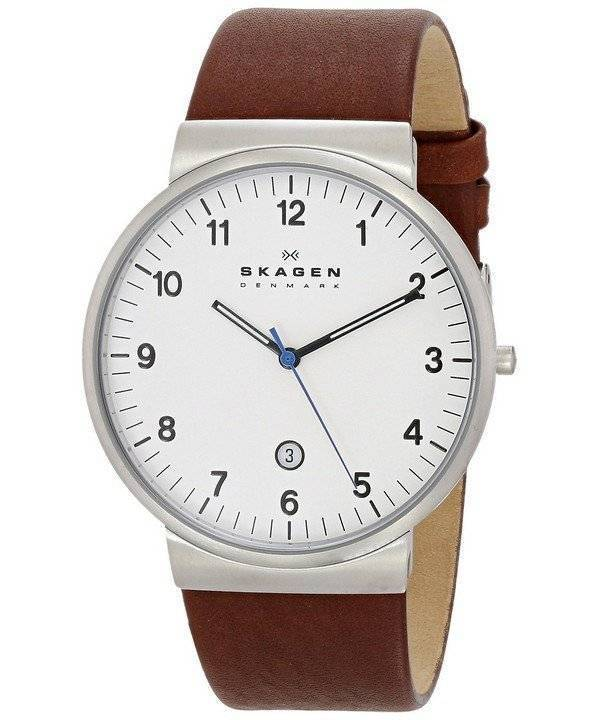 Skagen Ancher Brown Leather Strap SKW6082 Men's Watch - Click Image to Close