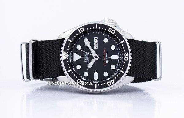 Seiko Automatic Diver's 200M NATO Strap SKX007J1-NATO4 Men's Watch - Click Image to Close