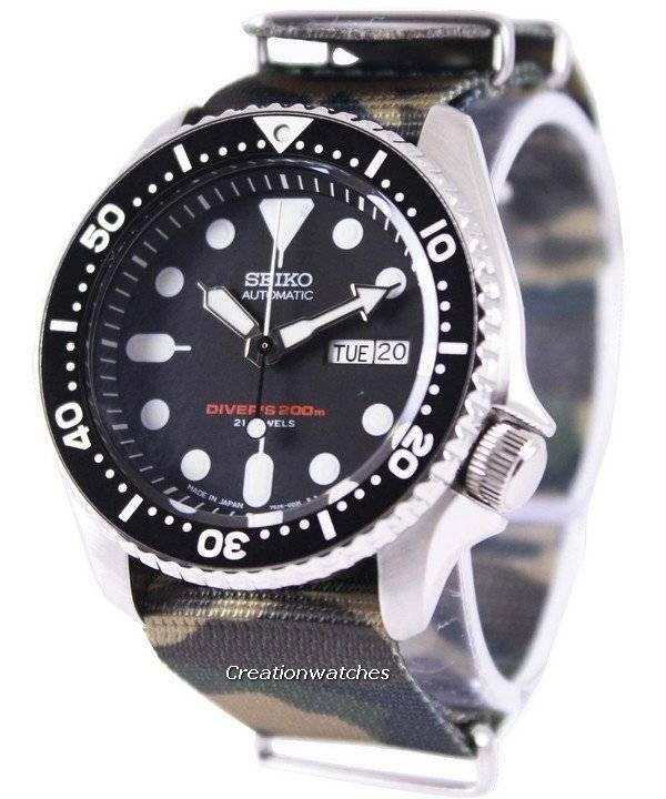 Seiko Automatic Diver's 200M Army NATO Strap SKX007J1-NATO5 Men's Watch - Click Image to Close
