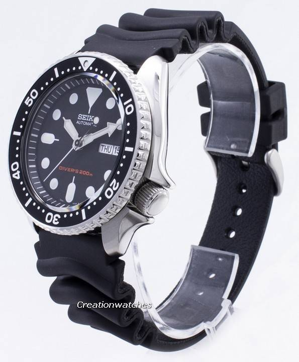 Seiko Automatic Diver SKX007 SKX007K1 SKX007K Rubber Band Men's Watch - Click Image to Close