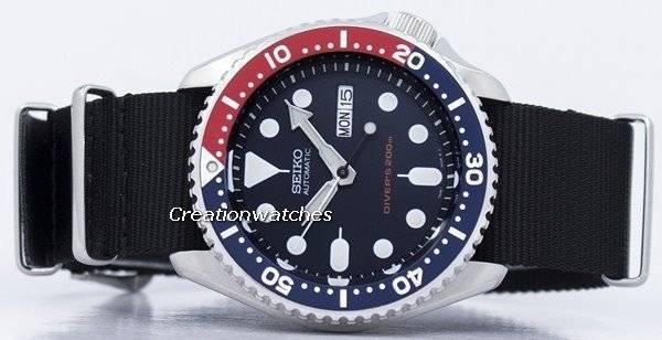Seiko Automatic Diver's 200M NATO Strap SKX009K1-NATO4 Men's Watch - Click Image to Close