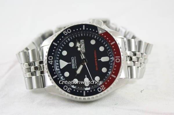 Seiko Automatic Diver's 200M Jubilee Bracelet SKX009K2 Men's Watch - Click Image to Close