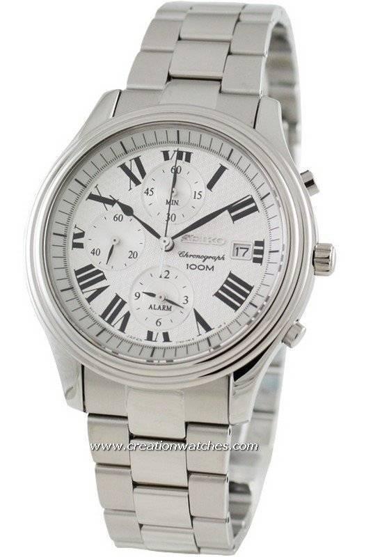 Seiko Alarm Chronograph SNAC77P1 SNAC77P SNAC77 Men's Watch - Click Image to Close