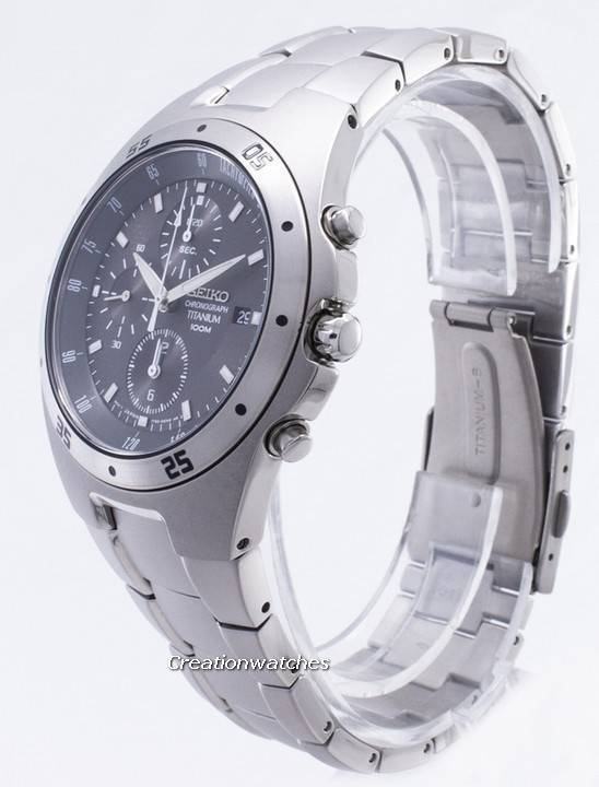 Seiko Titanium Chronograph SND419 SND419P1 SND419P Men's Watch - Click Image to Close