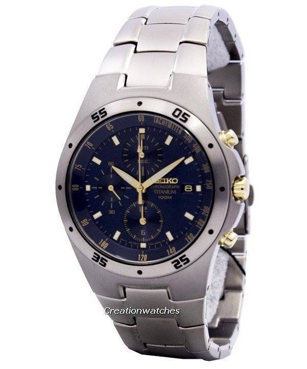 image of seiko titanium two tone chronograph snd449 snd449p1 snd449p men 39 s watch. Black Bedroom Furniture Sets. Home Design Ideas
