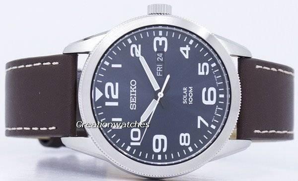 Seiko Solar SNE475 SNE475P1 SNE475P Men's Watch - Click Image to Close