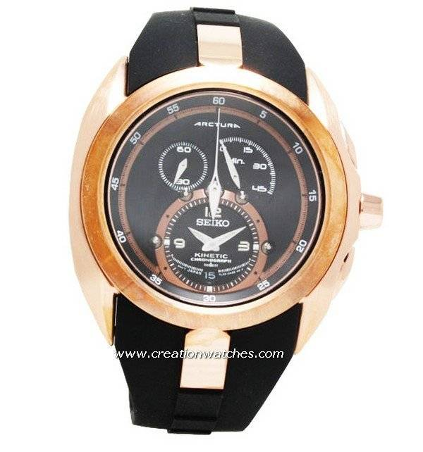men s watches arctura kinetic chronograph rose gold snl060 seiko men s watches arctura kinetic chronograph rose gold snl060