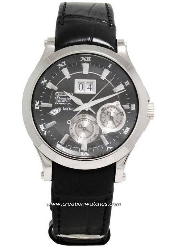 seiko premier kinetic perpetual calendar snp005p1 snp005p snp005 mens watch ebay
