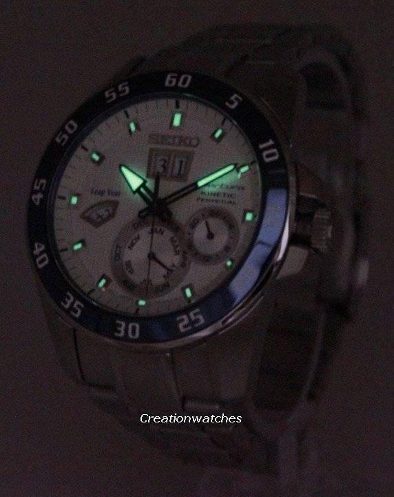 Seiko Sportura Kinetic Perpetual SNP085 SNP085P1 SNP085P Men's Watch - Click Image to Close