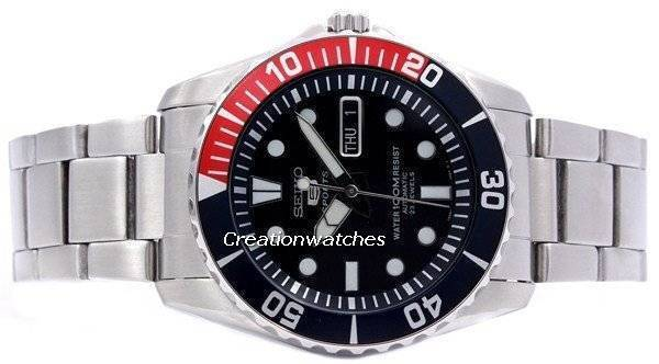 Seiko Automatic Divers 23 Jewels 100m Watch SNZF15 SNZF15K1 SNZF15K Men's Watch - Click Image to Close
