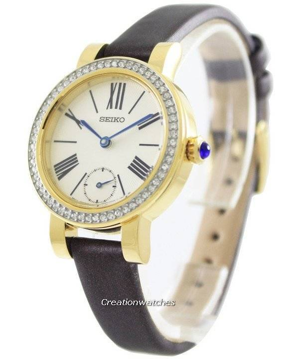 Часы Seiko кварцевые кристаллы Swarovski SRK030P1 SRK030P женщин