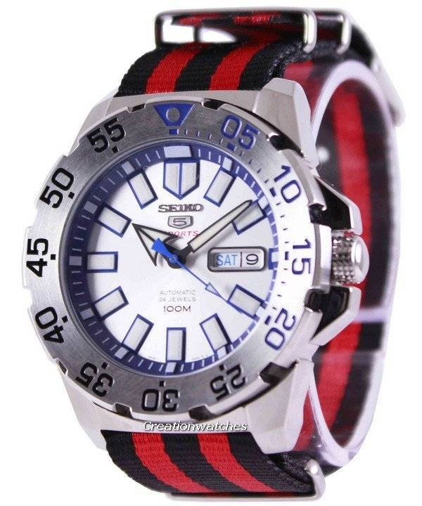 Seiko 5 Sports Automatic NATO Strap SRP481K1-NATO3 Men's Watch - Click Image to Close