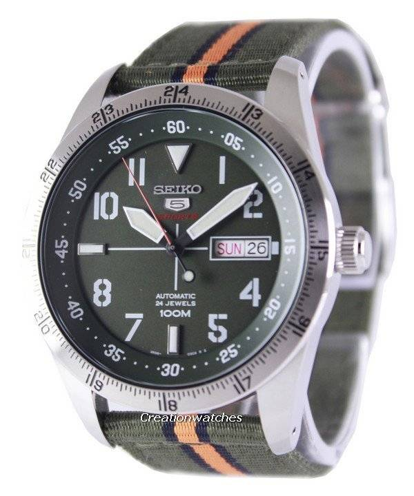 Seiko 5 Sports Automatic 24 Jewels 100M SRP515K1 SRP515K Men's Watch - Click Image to Close