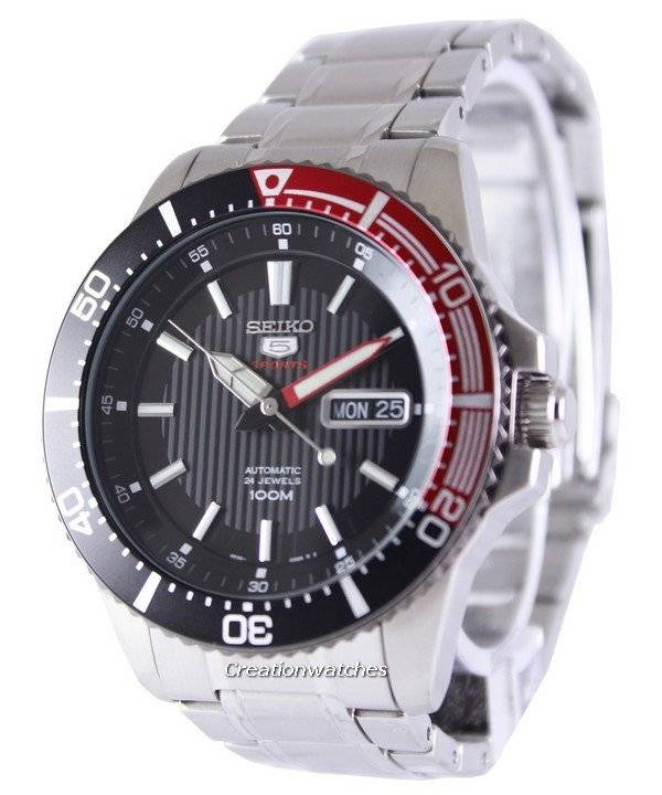 Seiko 5 Sports Automatic 24 Jewels 100M SRP557K1 SRP557K Men's Watch - Click Image to Close
